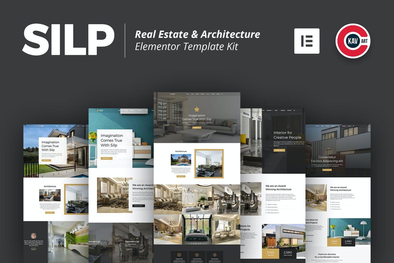Silp-elementor房地产与建筑模板套件