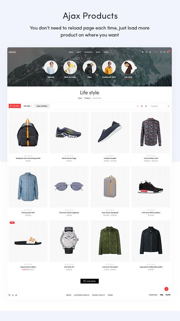Nexio- 时尚服饰在线商店网站WooCommerce主题