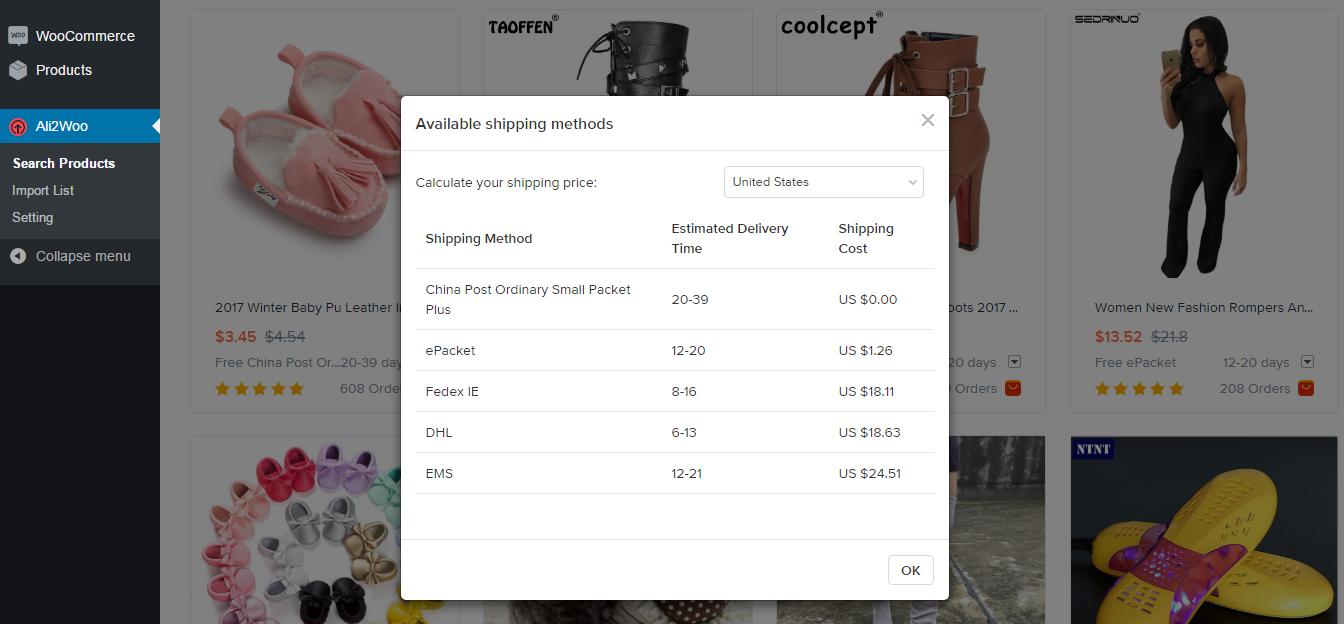 AliExpress Dropshipping Business 产品速卖通导入WooCommerce插件