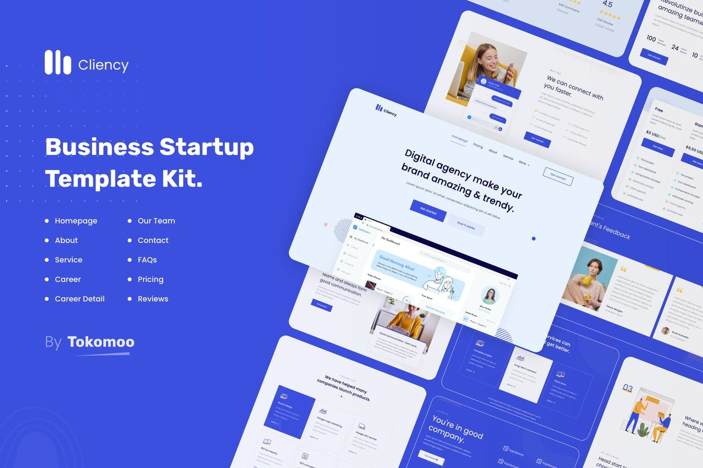 Clientcy   业务和启动 Elementor Template Kit